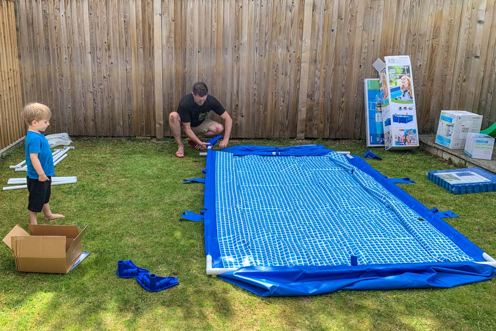 How to put an above ground pool in your garden