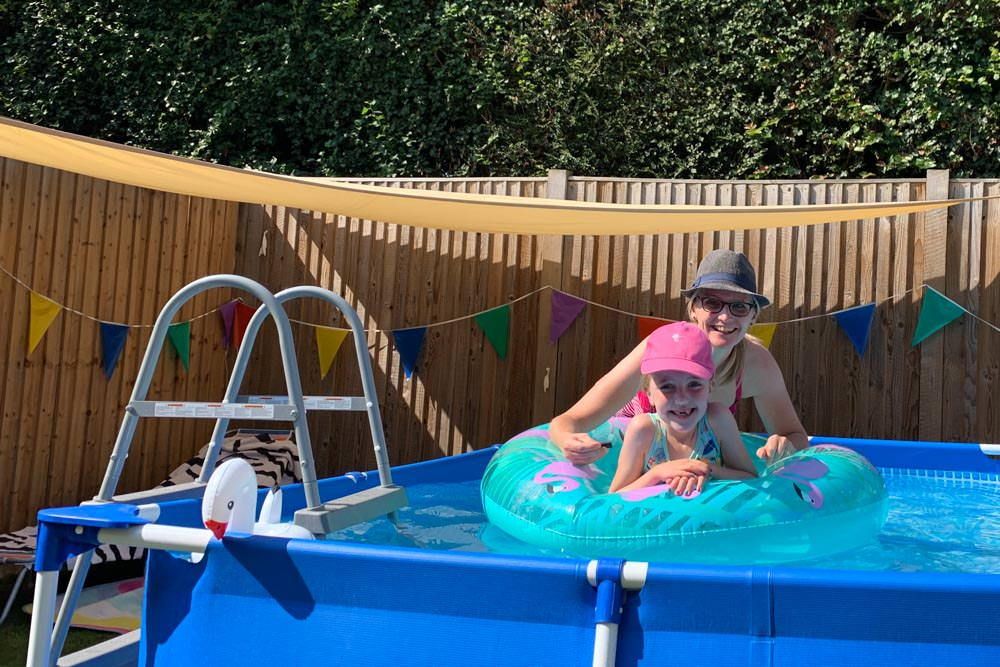 A paddling pool for children and adults