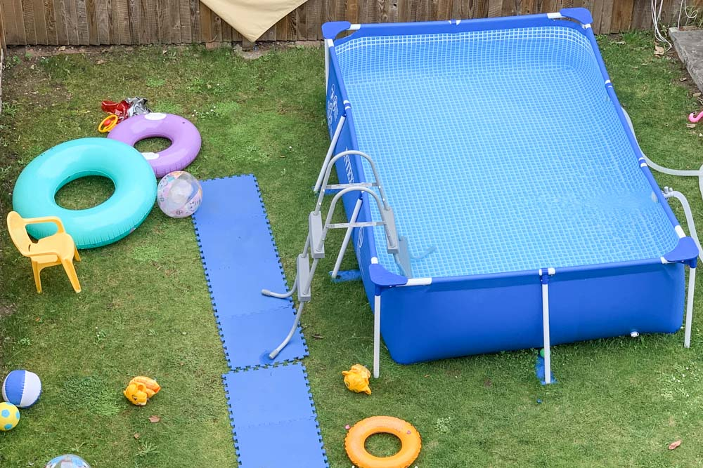 A large paddling pool can ge fun in the garden