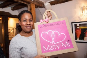 Marcia from Marri Mi Wedding and Privilege Card and Wedding directory with a bag designed by Anna Richardson